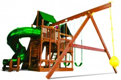 King Kong Clubhouse Pkg II with 360° Spiral Slide with Tarp